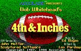 4th & Inches DOS Title screen (EGA/Tandy)
