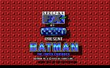 Batman: The Caped Crusader DOS Bat-title screen (EGA)