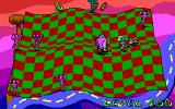 Adventures of Beetlejuice: Skeletons in the Closet DOS Level 100 sure is crowded with friends and foes!