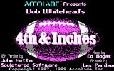 4th & Inches DOS Title screen (CGA)