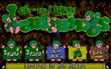 Oh No! More Lemmings Atari ST Main menu