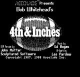 4th & Inches DOS Title screen (Hercules Monochrome)