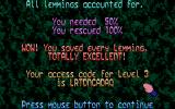 Oh No! More Lemmings Atari ST Level complete!