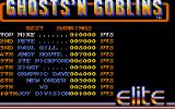 Ghosts 'N Goblins Atari ST The high score table