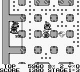 Lock n' Chase Game Boy Stage 1-3, 500 points for locking up 2 policemen