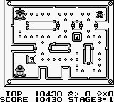 Lock n' Chase Game Boy Stage 3-1, stepping on questionbox toggles policemen on/off