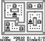 Lock n' Chase Game Boy Stage 5-1, doors are secret passage ways