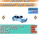 V-Rally Championship Edition Game Boy Color Select your wheels.