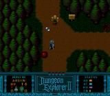 Dungeon Explorer II TurboGrafx CD Fighting enemies in the wild.