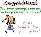 Rugrats: Totally Angelica Game Boy Color I caught enough cookies to keep Grandpa happy and win a prize.