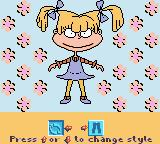 Rugrats: Totally Angelica Game Boy Color Now I can change my leggings.