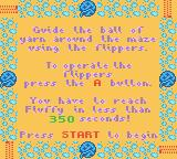 Rugrats: Totally Angelica Game Boy Color Instructions for Fluffy's Pinball Maze