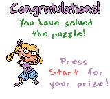 Rugrats: Totally Angelica Game Boy Color Yay! I solved the puzzle and won more prizes.