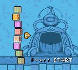 Rugrats: Time Travelers Game Boy Color Main menu