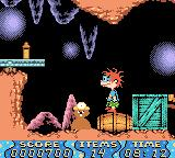 Rugrats: Time Travelers Game Boy Color Must avoid the gopher.