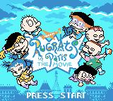 Rugrats in Paris: The Movie Game Boy Color Title screen (English version)