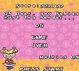 Rugrats in Paris: The Movie Game Boy Color I didn't retry. Game over.