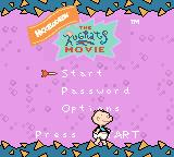 The Rugrats Movie Game Boy Color Main menu