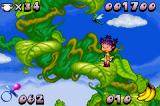Rugrats: Castle Capers Game Boy Advance Climbing the beanstalk. I wonder if there is a giant up here.