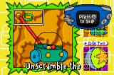 Rugrats: I Gotta Go Party Game Boy Advance Unscramble the 2 sided puzzle.
