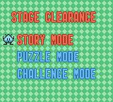 Bust-A-Move Millennium Game Boy Color Stage clearance menu