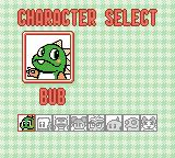 Bust-A-Move Millennium Game Boy Color Select your character.