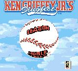 Ken Griffey Jr.'s Slugfest Game Boy Color Main menu
