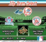 Ken Griffey Jr.'s Slugfest Game Boy Color Now select my team from that division.
