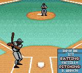 Ken Griffey Jr.'s Slugfest Game Boy Color I'm pitching. The CPU is up at bat.