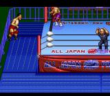 Zen Nippon Pro Wrestling SNES He threw me out of the ring.
