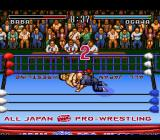 Zen Nippon Pro Wrestling SNES He's pinning me for the count.