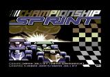 Championship Sprint Commodore 64 Title screen and credits