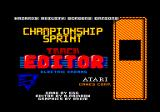 Championship Sprint Amstrad CPC Editor title screen
