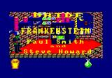 Bride of Frankenstein Amstrad CPC Credits and opening scene