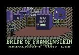 Bride of Frankenstein Commodore 64 Copyright screen and opening scene