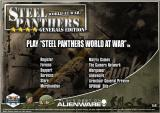 Steel Panthers: World at War Windows Loading menu