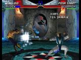 Mortal Kombat 4 Nintendo 64 Raiden throwing a lightning bolt.