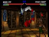 Mortal Kombat 4 Nintendo 64 Raiden taking an uppercut from Jarek.