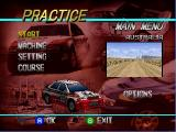 Rally Challenge 2000 Nintendo 64 Car select on Practice mode