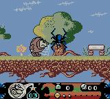 Toonsylvania Game Boy Color Aiming a punch at a spider.
