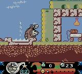 Toonsylvania Game Boy Color Throwing a skull.