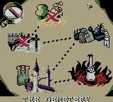 Toonsylvania Game Boy Color The map, two areas cleared.