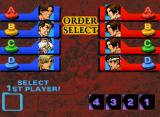 The King of Fighters '99: Millennium Battle Neo Geo CD Setting the battle order.