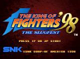 The King of Fighters '98: The Slugfest Neo Geo CD Title screen (US)