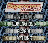 Supercross Freestyle Game Boy Color Title screen