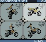 Supercross Freestyle Game Boy Color Selecting a 'freestyle'...