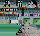 Supercross Freestyle Game Boy Color A mysterious weather condition (rain?) has a mysterious effect (mud?).