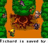 Robin Hood Game Boy Color Robin saves Richard.