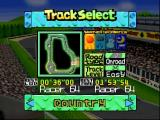 Penny Racers Nintendo 64 Track selection
