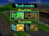 Penny Racers Nintendo 64 Road and Track type select in New Track mode